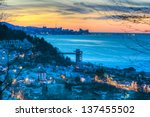 hdr image of beautiful sunrise... | Shutterstock . vector #137455502