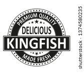 delicious kingfish vector stamp ... | Shutterstock .eps vector #1374580235