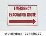 Emergency Sign Shows An Arrow...