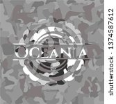 oceania on grey camo texture | Shutterstock .eps vector #1374587612