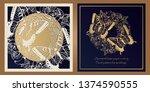 envelope design  invitations...   Shutterstock .eps vector #1374590555