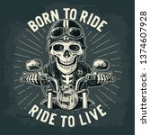 Skeleton Driving A Motorcycle...