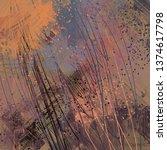 abstract texture. 2d... | Shutterstock . vector #1374617798