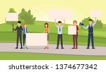 street promotional campaign... | Shutterstock .eps vector #1374677342