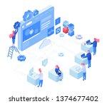web development vector... | Shutterstock .eps vector #1374677402