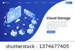 cloud storage landing page...