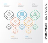cook icons line style set with... | Shutterstock .eps vector #1374722072