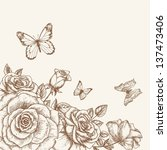 Vintage Flower Background....