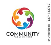 community logo icon | Shutterstock .eps vector #1374753752