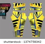 leggings pants for gym   Shutterstock .eps vector #1374758342