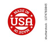 made in usa united states of...   Shutterstock .eps vector #1374783845