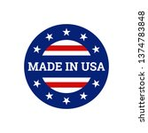 made in usa united states of...   Shutterstock .eps vector #1374783848