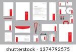 vector corporate identity... | Shutterstock .eps vector #1374792575