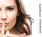 portrait of beautiful woman... | Shutterstock . vector #137480978