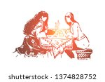 gipsy woman  fortune teller and ...   Shutterstock .eps vector #1374828752