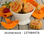Pumpkin Muffins With Cream And...