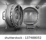 open bank vault door | Shutterstock . vector #137488052