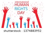 human rights day vector | Shutterstock .eps vector #1374883952