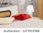 bedroom interior  bed furniture ... | Shutterstock . vector #1374923588