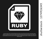 black ruby file document icon.... | Shutterstock .eps vector #1374926345