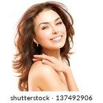 beauty woman. beautiful young... | Shutterstock . vector #137492906