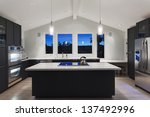 an interior of a rich house... | Shutterstock . vector #137492996