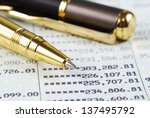 pen on bank account book | Shutterstock . vector #137495792
