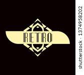 luxury antique modern art deco...   Shutterstock .eps vector #1374958202