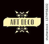 luxury antique modern art deco...   Shutterstock .eps vector #1374958232