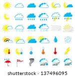 vector illustration of a set of ... | Shutterstock .eps vector #137496095