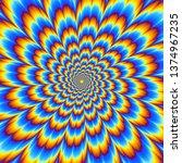 pulsing blue flower. optical...   Shutterstock .eps vector #1374967235