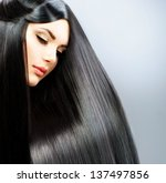 Постер, плакат: Hair Long Straight Hair
