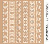 vector set of line borders with ...   Shutterstock .eps vector #1374979598