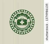 green medical briefcase icon... | Shutterstock .eps vector #1374986135