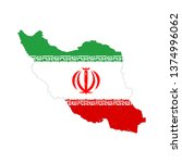 iran country silhouette with... | Shutterstock . vector #1374996062