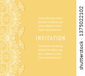 invitation or card template...   Shutterstock .eps vector #1375022102