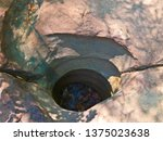 amazing stone hole the hole is... | Shutterstock . vector #1375023638
