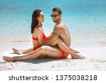 young couple having fun on a...   Shutterstock . vector #1375038218
