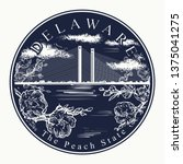 delaware. tattoo and t shirt... | Shutterstock .eps vector #1375041275