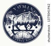 Wyoming. Tattoo And T Shirt...