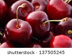 sweet cherries  background ... | Shutterstock . vector #137505245