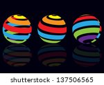 set of three colorful...   Shutterstock .eps vector #137506565
