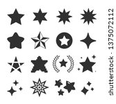 set of star icon vector | Shutterstock .eps vector #1375072112