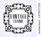 modern art deco frame. vintage...   Shutterstock .eps vector #1375077125