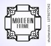 modern art deco vintage border...   Shutterstock .eps vector #1375077242