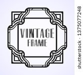 modern art deco vintage border...   Shutterstock .eps vector #1375077248