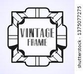 modern art deco vintage border...   Shutterstock .eps vector #1375077275