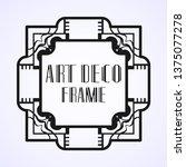 modern art deco vintage border...   Shutterstock .eps vector #1375077278