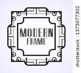 vintage ornamental modern art...   Shutterstock .eps vector #1375077302