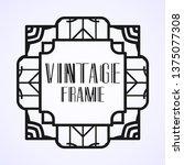 vintage ornamental modern art...   Shutterstock .eps vector #1375077308